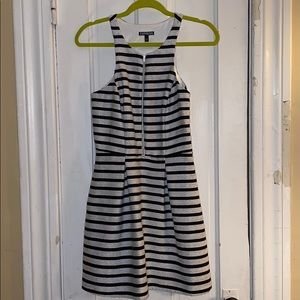 Express Cocktail Dress - Size 6 - B&W Striped